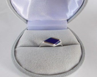 Womens Azurite and .925 Sterling Silver Ring, size  8.5
