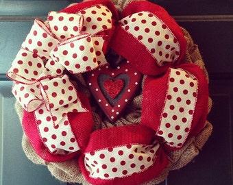 Valentines Day Wreath/ Love Wreath/ Heart Wreath