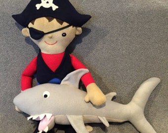 Aarg!!  Here's Perry Pirate with Sharky!