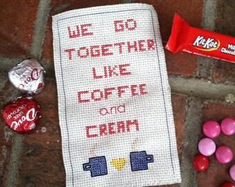 We Go Together Like Coffee & Cream Cross-Stitch Print
