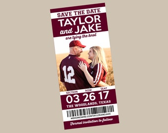 Football Ticket Save the Date