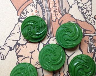 5 great collectors / glass buttons - buttons Art Nouveau - vintage - 6 colors available