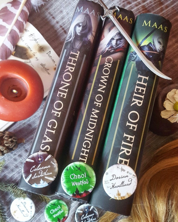 Pack 3 badges Throne of glass - Handmade