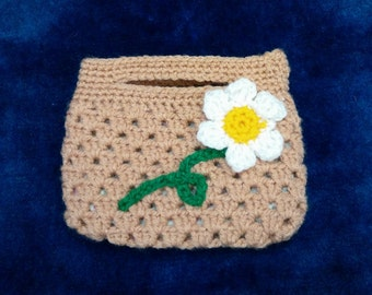 crocheted handbag - crochet bag - crocheted gift for a little lady
