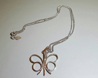 Vintage Silver-Toned Sarah Covington Butterfly Necklace, Butterfly Gift