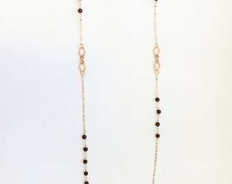 Olivia Necklace in Black and Red Jasper