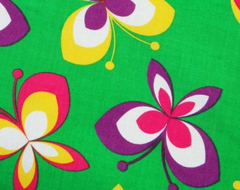 Green Cotton Fabric With Butterfly Decorative Printed Fabrics Sewing Crafting Material For Dress Making Fabric Drape By 1 Yard ZBC5549