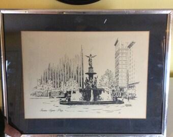 Vintage George Wagner Framed Print