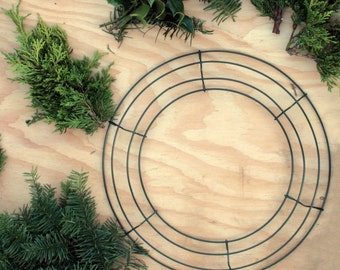 """Pack of Ten 12"""" Wire Wreath Frames 12 Inch Size, Christmas Wreath Wire Frames"""