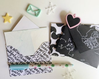 Black & white envelope set