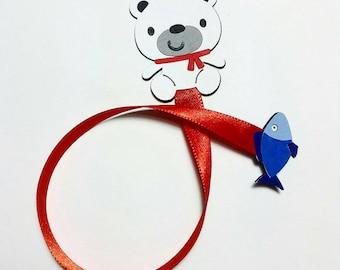 Polar Bear Ribbon Bookmark