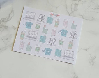 24 Small Girly Girl Media Stickers