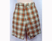 Great pair of vintage shorts from the 50's, Orange & green plaid S