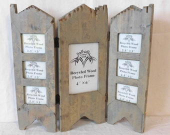 Recycled wood photo frame-- Valhalla USA