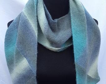 Knit Geometric Scarf