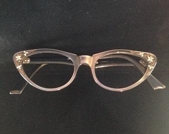 Vintage womens cateye glasses ,frame france.