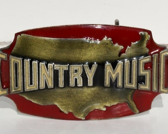 Country Music Lover's Belt Buckle