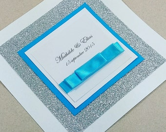 Blue dream wedding invitation sample