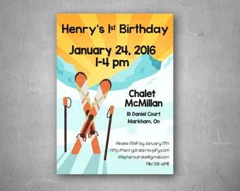 DIGITAL - Apres Ski Birthday Party Invitation