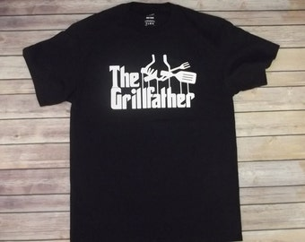 Barbecue The Grillfather T-shirt all sizes and color Print 100% cotton