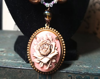 Victorian Style Rose Cameo
