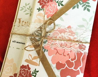 Roses and Flowers Wedding Invitation