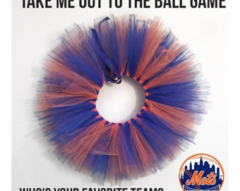Pick your team Baseball tutu in Newborns, infants, toddlers or girls sizes