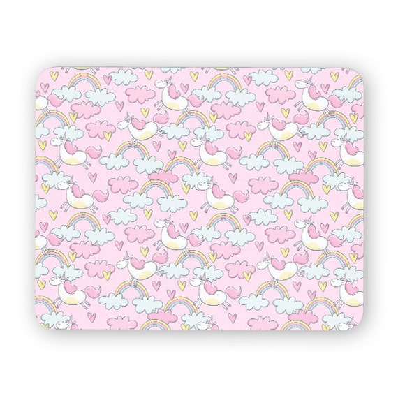 Unicorn rainbow clouds mouse pad - mouse mat 3P007