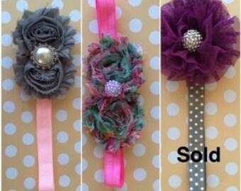 Shabby Chic Thin Flower Headband