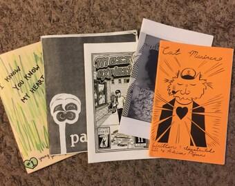 Lot of 5 Random Zines Magazines