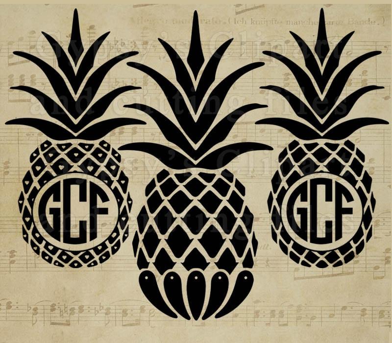 Download Pineapple svg PIneapple Monogram Pineapple Split Frame