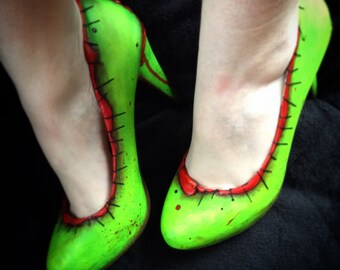 Comic Book Marilyn Zombie Shoes