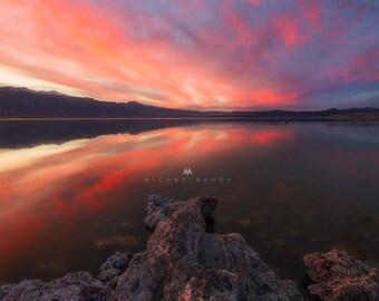 Mono Sunset - Sunset Landscape photo taken at Mono Lake in the Eastern Sierras