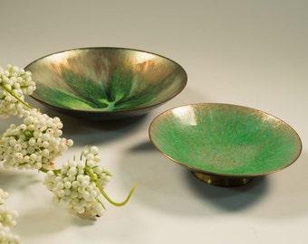 Enamel Cloisonné bowls/ plate 60s