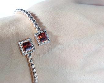 Sterling Silver 925K Bracelet , 14K Gold Bracelet, Sterling Silver Bracelet, ruby Bracelets, 14k Gold Plated Bracelet, Dalmarkt