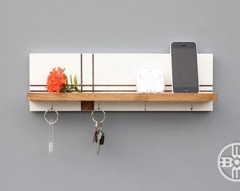 Key Holders For Wall modern wood shelf key holder for wall jewelry rack key