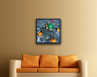 Wet Dry World Mario 64 24x24 Canvas print Free shipping in the us