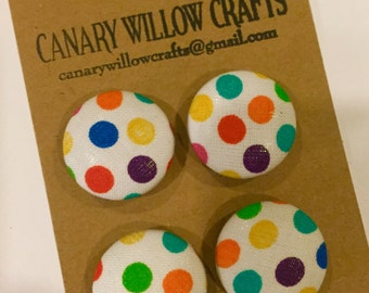 fabric covered button magnets