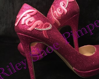 Hope Breast Cancer Awareness Heels. I will donate to the charity for each pair purchased x