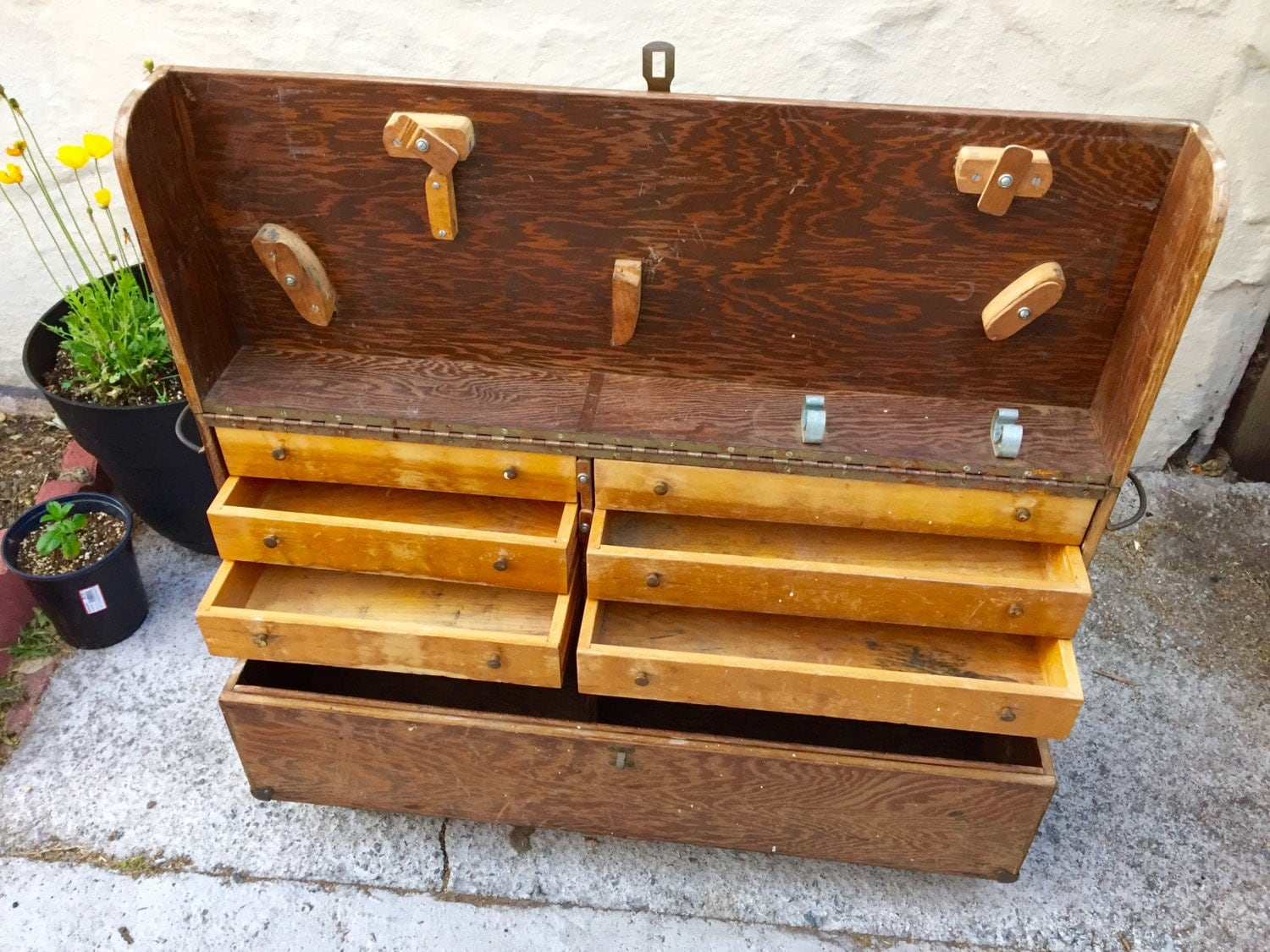 RESERVED Wood Tool Box...
