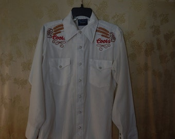 Shirt with Coors Beer Company logo's Vintage