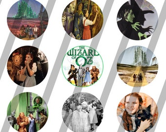 Wizard of Oz digital collage sheet 4x6 for bottlecaps - 1 inch - INSTANT DOWNLOAD