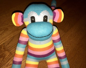 Sock Monkey Colorful Handmade