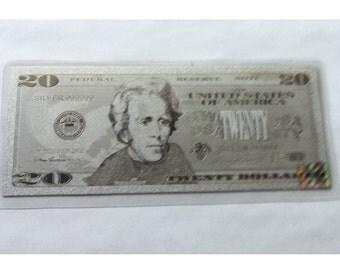 Silver Twenty Dollar American Banknote .999