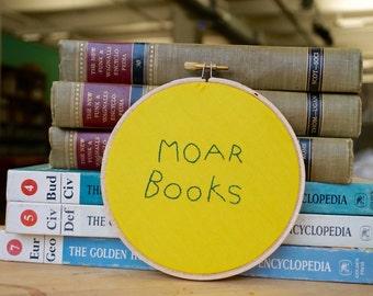 Moar Books Handmade Embroidery