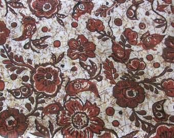 Brown flowered fabric