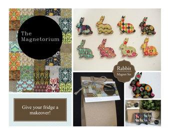 Rabbit Fridge Magnet Set