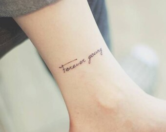 Forever Young - Temporary Tattoos // Quote Series // Inspirational // Tumblr Style // Life Quotes