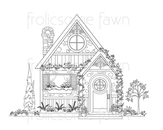 cottage coloring pages - photo#29