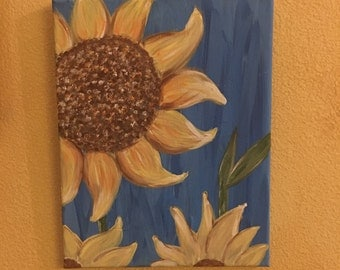 Happy sunflowers original painting